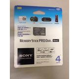 Cartão De Memória Sony - 4gb - Memória Stick Pro-duo - Novo