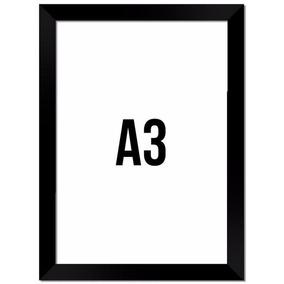 Moldura 1und A3 = 29,7x42cm - Opções; Pt, Brc, Tab E Beg