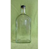Gran Botella Muy Decorativa Transparente De Forma Especial