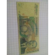 Billete 10,000 Pesos, Antiguo De Mexico.