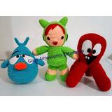 Oferta 3 Pocoyo Nina, Pulpo Y Pajaroto Crochet