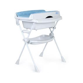 Banheira Com Suporte Trocador Burigotto Splash Circles Azul