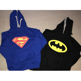 Pkt 2 Sudaderas Superman & Batman Dc Comics Adulto / Infanti