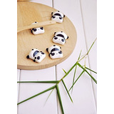 Wowlife 6 Pcs Kawaii Cartoon Animals Pattern Chopsticks Spoo