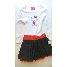 Vestido Kitty Niña, Talla 6, Nuevo