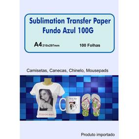 Papel Sublimático A4 500 Folhas Fundo Azul Secagem Rapida