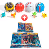 1 Pokebola Pokeball Ultima Tecnología +1 Pokemon + Cartas