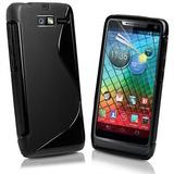 Capa Gel Tpu S-style Motorola Razr I Xt890 Xt907 + Pelicula