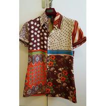 Camisa De Seda Importada De Italia Jean Paul Gaultier -small