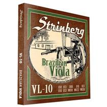 Encordoamento Para Viola Caipira Strinberg Vl-10 .010