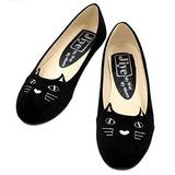 Jiye Cuero Para Mujer Pu Fashon Bordado Para Gato Zapatos...