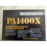 Cignus Manual Proprietario Power Pa-1400x Pre Cp-1800x