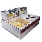 Tanque Dual Eléctrico Freidora 5000w 12l Cocinas Restaurante