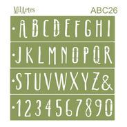 Mil Artes - Stencil Letras Y Números Alto 4,5cm -  Abc26