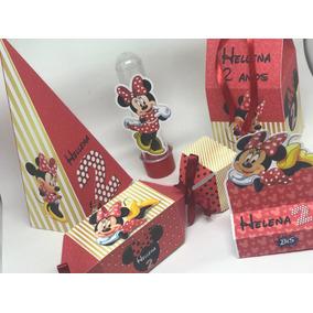 Kit Festa Personalizada Minnie Vermelha 120 Itens