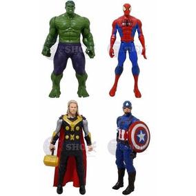 Kit 4 Bonecos Vingadores Marvel 30 Cm Luz E Som