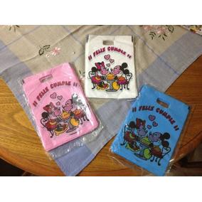 Minnie Y Mickey Bolsitas Para Cumpleaños X 100 Gran Tamaño