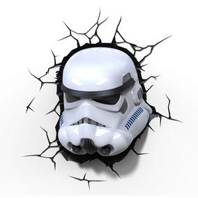 Luminária De Parede Star Wars Máscara Stormtrooper - 3d Ligh