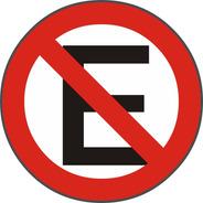 Cartel Prohibido Estacionar Redondo En Chapa De 1.6mm V. Ref