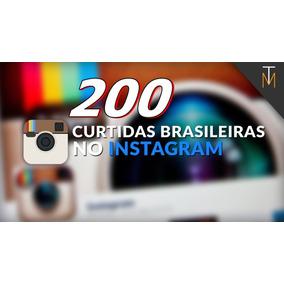 200 Likes Curtidas No Instagram (brasileira) Promoção 100%