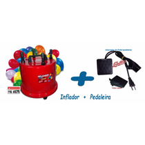 Inflador Balões 4 Bicos + Pedaleira 1300watts 110.volts