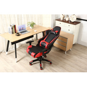 Cadeira Racing Gamer Preta / Vermelha 8-141 Inclinação 180º