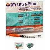 Seringa Para Insulina Bd 12,7x 0,33mm Caixa Com 100 Unidades