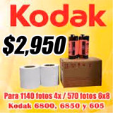 Kodak 605, 6850, 6800 Papel Y Cinta