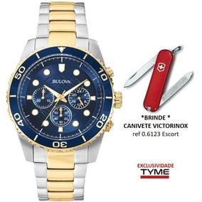 723dc97c6dc Relógio Bulova Masculino Wb31989a   98a170 + Brinde C  Nf