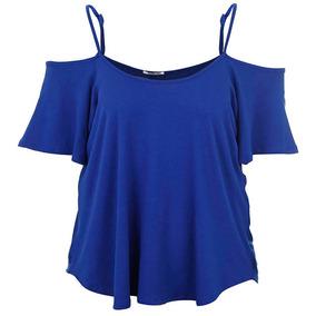 Blusa Plus Size Feminina Ponto Forte - Azul