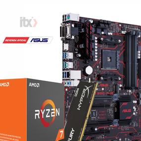 Kit Ryzen 7 1700 Octa Core + Asus Prime B350-plus Ddr4 + 8gb