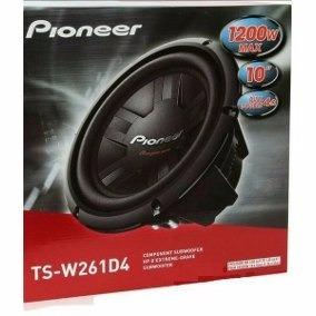 Subwoofer Pioneer Ts-w261d4 1200w 10 Polegadas
