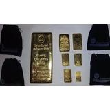Lingote De Oro Fino Banco Ciudad Con Factura Compra