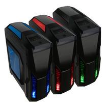 Gabinete Gamer Pixxo 017l Azul Vermelho Preto Acrilico