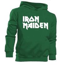 Blusa Moletom Canguru - Iron Maiden - Rock