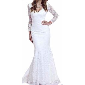 Vestido Renda Noiva Festa Simples Casamento Madrinha Vrl135