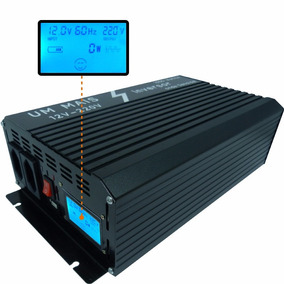 Inversor Conversor Senoidal Pura 1000w 12v 220v Lcd Digital