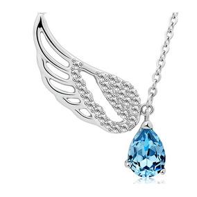 Dije Cristal Swarovski Wing Con Diamantes + Cadena De Regalo