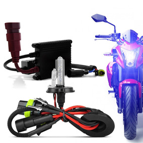 Kit Lampada Xenon Kx3 Para Moto H4-2 8000k