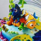 Decoracion De Torta Buscando A Nemo Dory 8 Piezas
