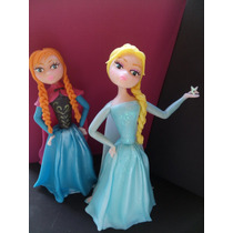 Adorno Torta Frozen , Elsa , Ana Y Olaff Porcelana Fria