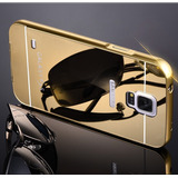Case Funda Tipo Espejo Marco Metalico Para Galaxy S4 Y S5