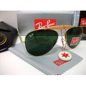 Oculo Rayban Bl Cacador Dourado Verde - Óculos De Sol no Mercado ... 80bac40a28