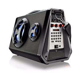 Caixa De Som Amplificada Multilaser Sp217 Bluetooth Led Usb