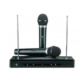 Microfone Sem Fio Duplo Receptor Palestra Escola Igreja C-05