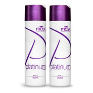 Kit 2un Shampoo Platinum Matizador Masc Professional 250g