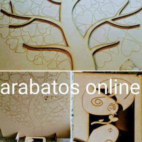 Arbol De Los Deseos Con Caja, Corazones Y Base Incluida