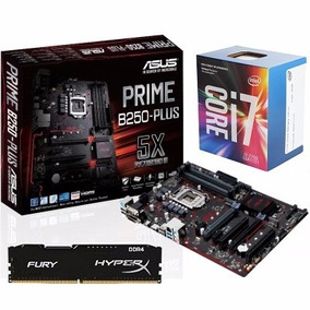 Kit Asus Prime B250-plus + Intel I7-7700 + 8gb Ddr4 Hyperx
