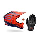 Capacete Asw Fusion Laranja Motocross Trilha + Luva X11