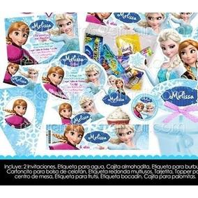 Kit Imprimible Anna Frozen Elsa Etiquetas Candy Mesa Postres